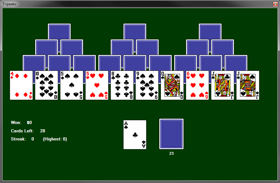 download tri peaks solitaire